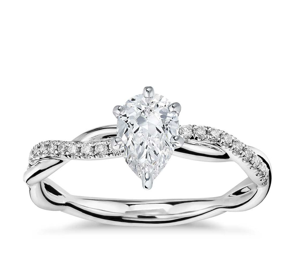 Engagement Ring - Vintage Pear Cut