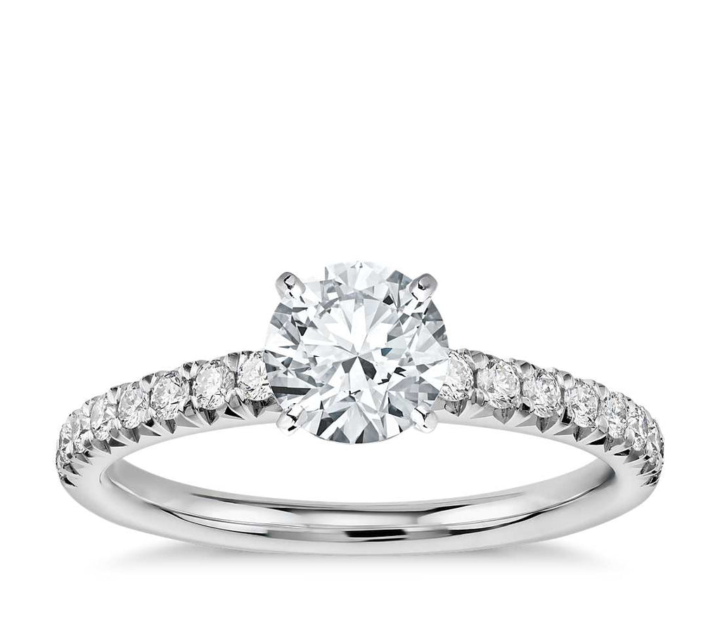 Engagement Ring - Pave Round Cut