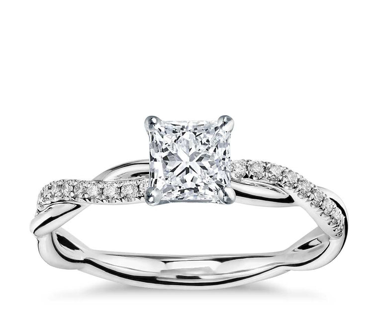 Engagement Ring - Vintage Princess Cut