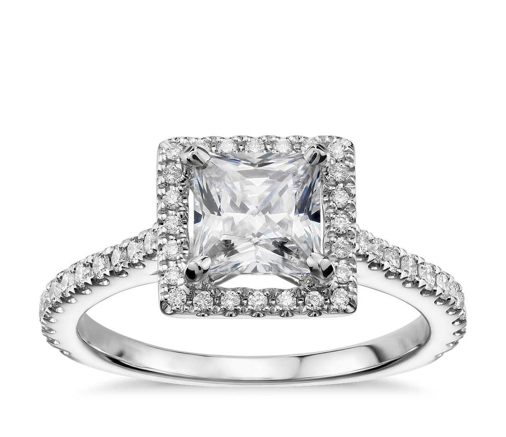 Engagement Ring - Halo Princess Cut