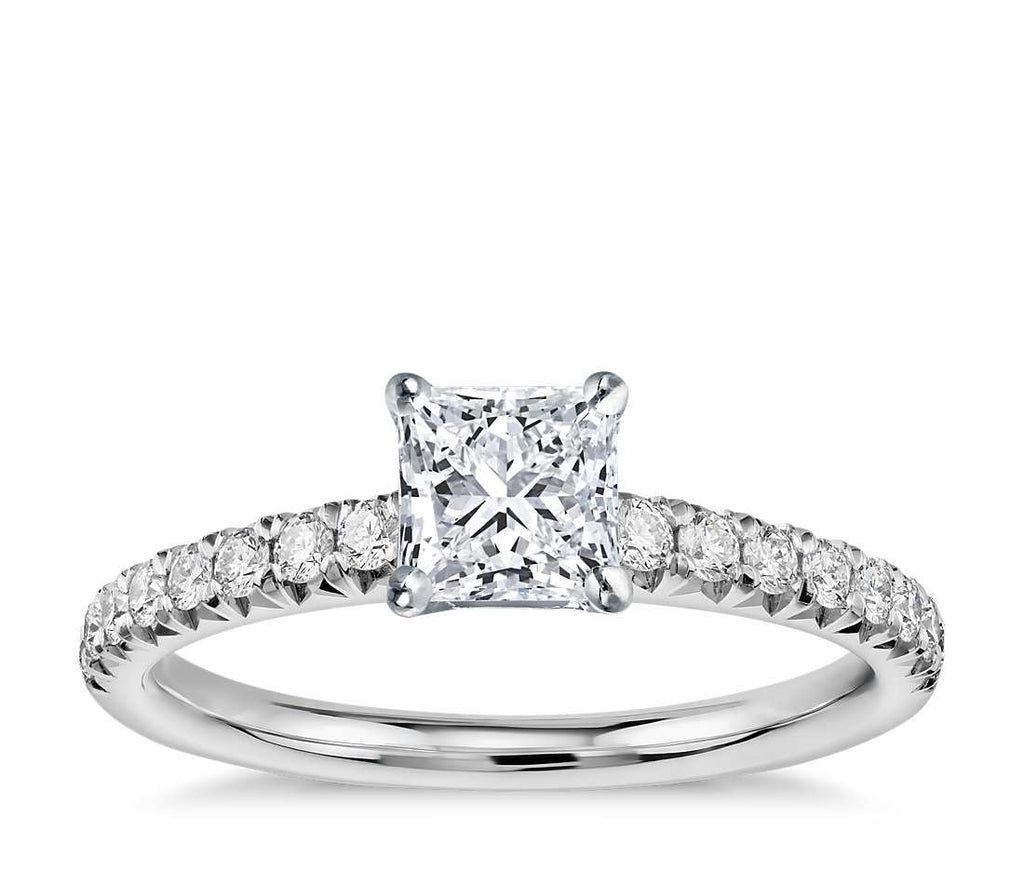 Engagement Ring - Pave Princess Cut