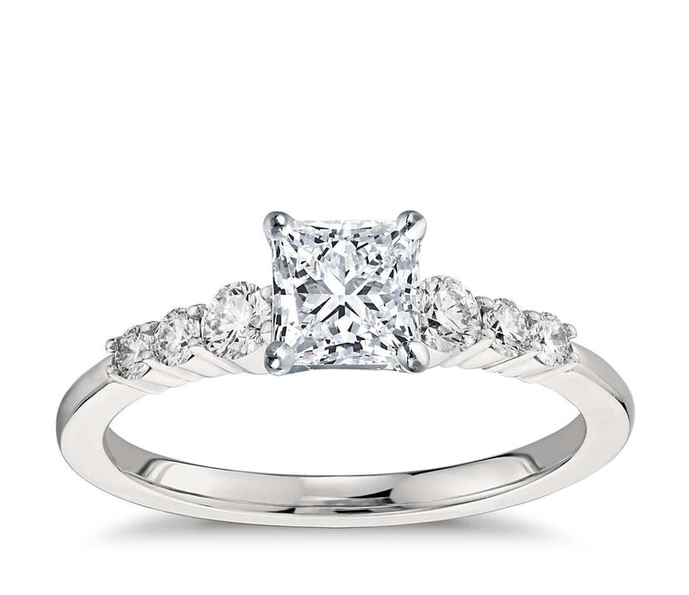 Engagement Ring - Side Stone Princess Cut