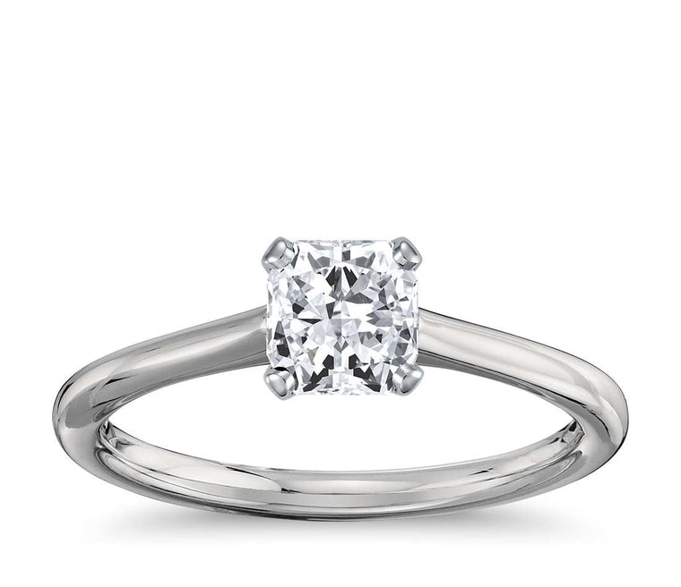 Engagement Ring - Thin Four-Prong Radiant