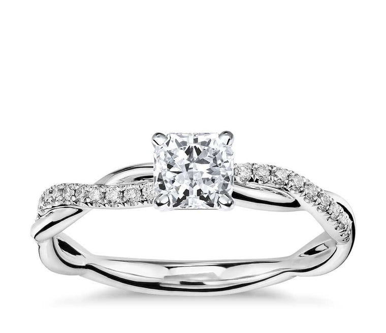 Engagement Ring - Vintage Radiant Cut
