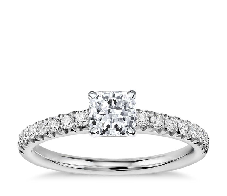 Engagement Ring - Pave Radiant Cut