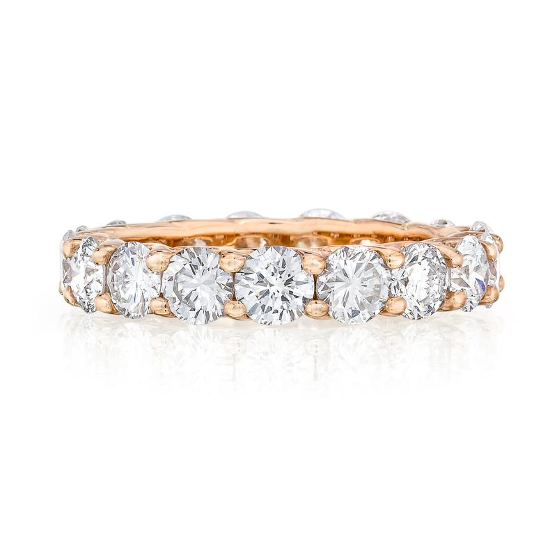 Eternity Band - Scallop 14K Rose Gold (2ct-8ct)