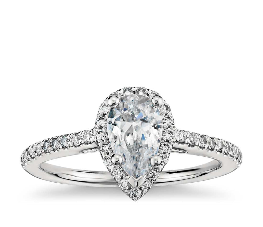 Engagement Ring - Halo Pear Cut
