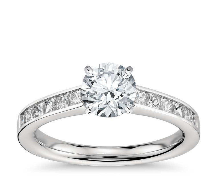 Engagement Ring - Channel Set Round Cut