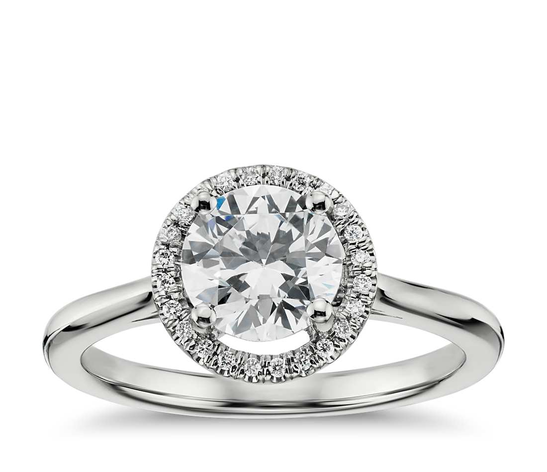 Engagement Ring - Floating Halo Round Cut