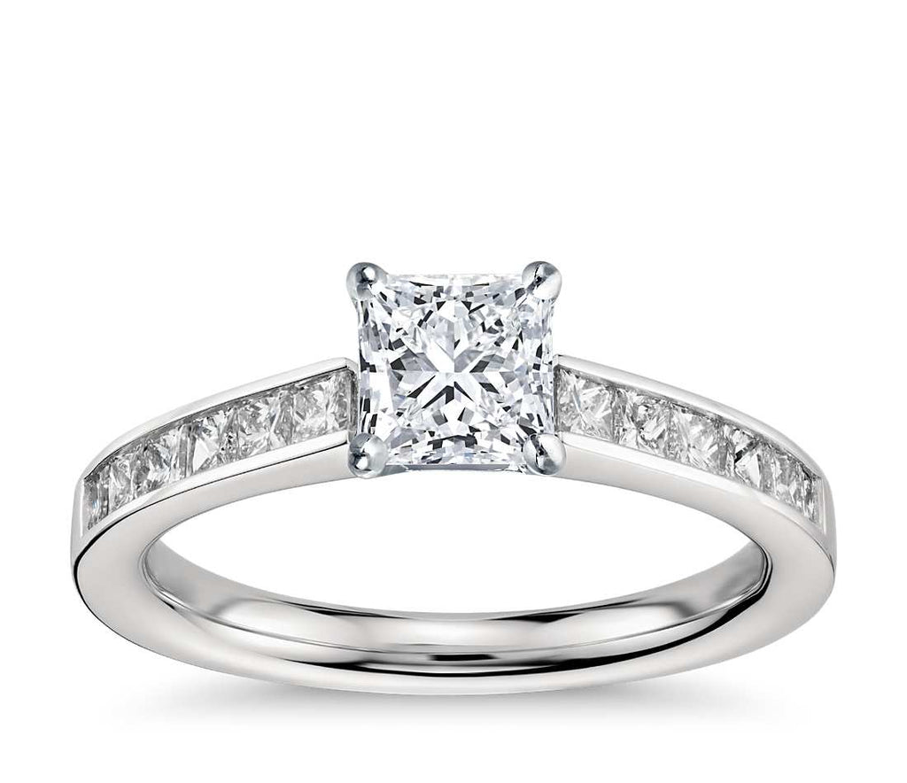 Engagement Ring - Channel Set Princess Cut