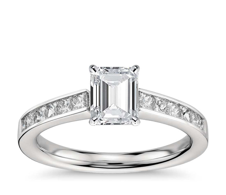 Engagement Ring - Channel Set Emerald Cut