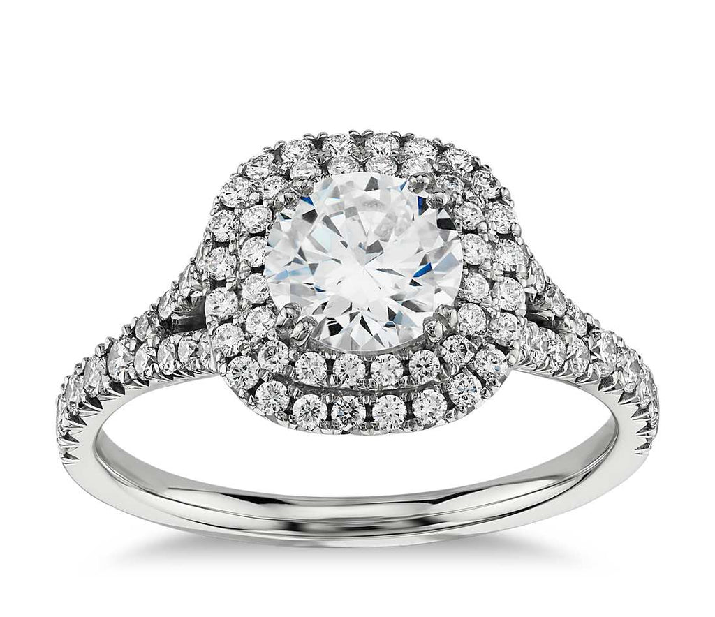 Engagement Ring - Halo Double Round Cut