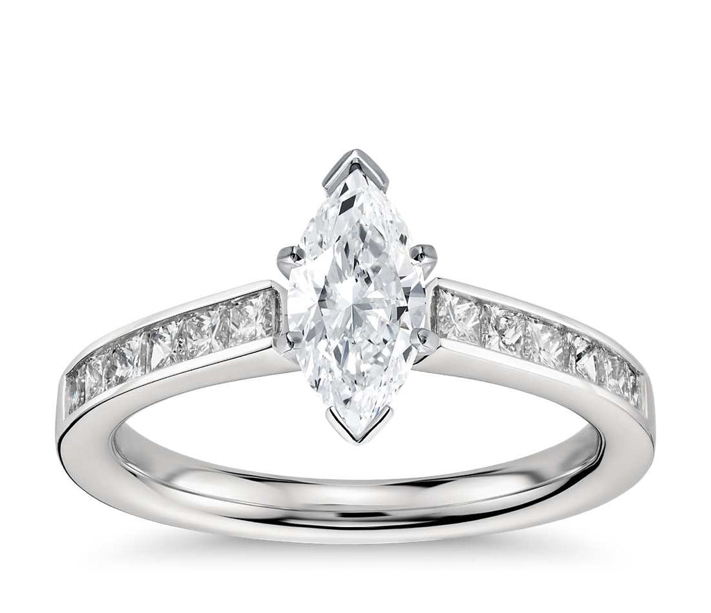 Engagement Ring - Channel Set Marquise Cut