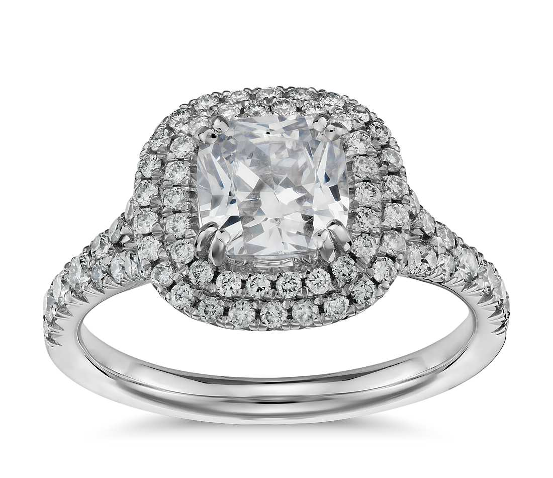 Engagement Ring - Halo Double Cushion Cut