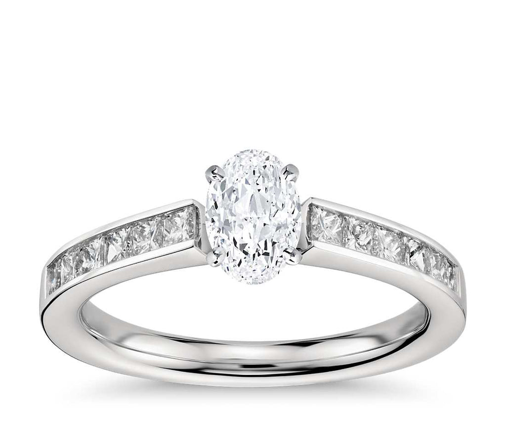 Engagement Ring - Channel Set Oval Cut