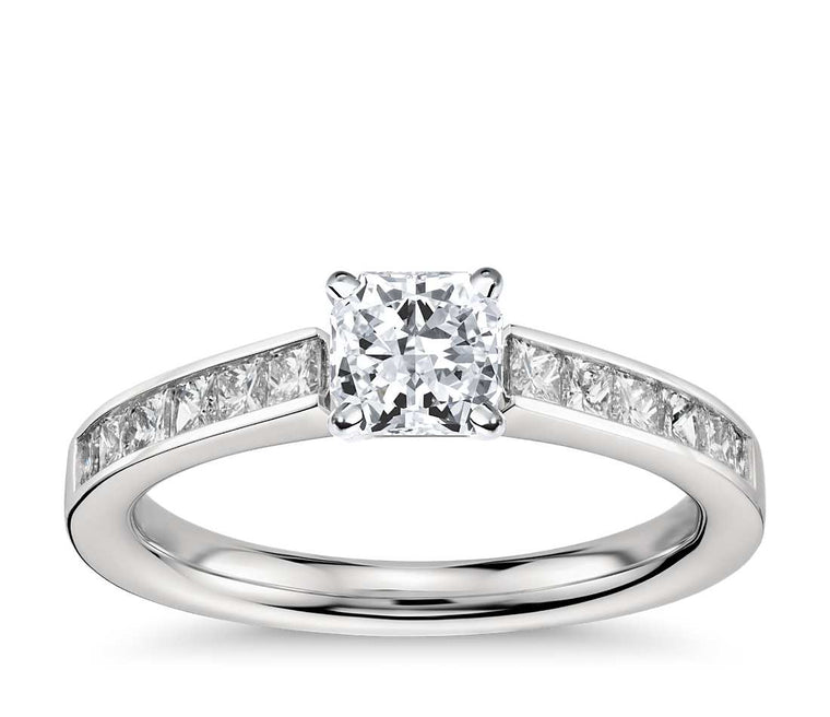 Engagement Ring - Channel Set Radiant Cut