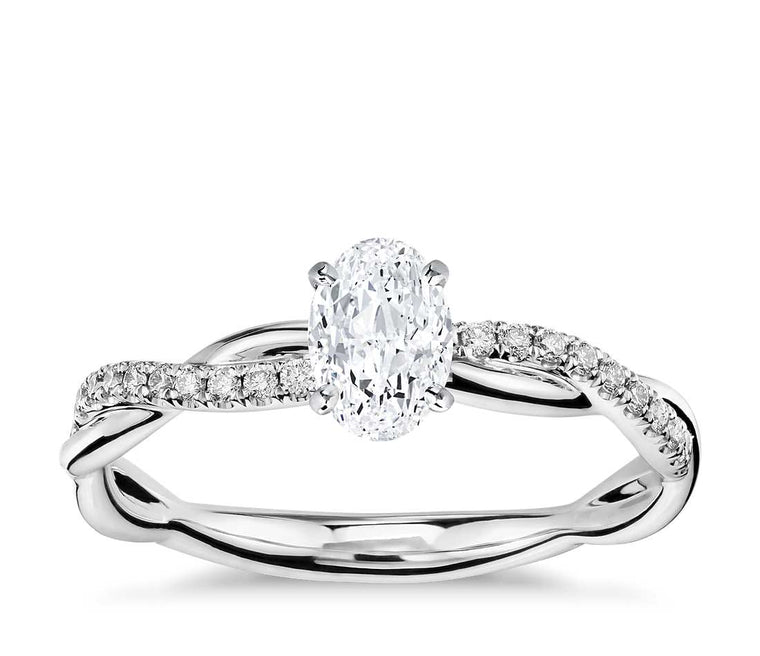 Engagement Ring - Vintage Oval Cut