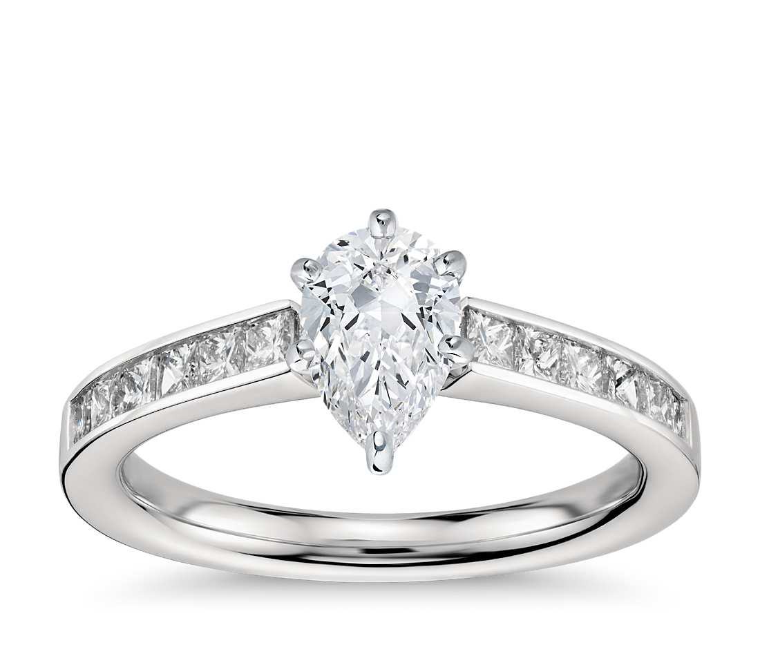 Engagement Ring - Channel Set Pear Cut