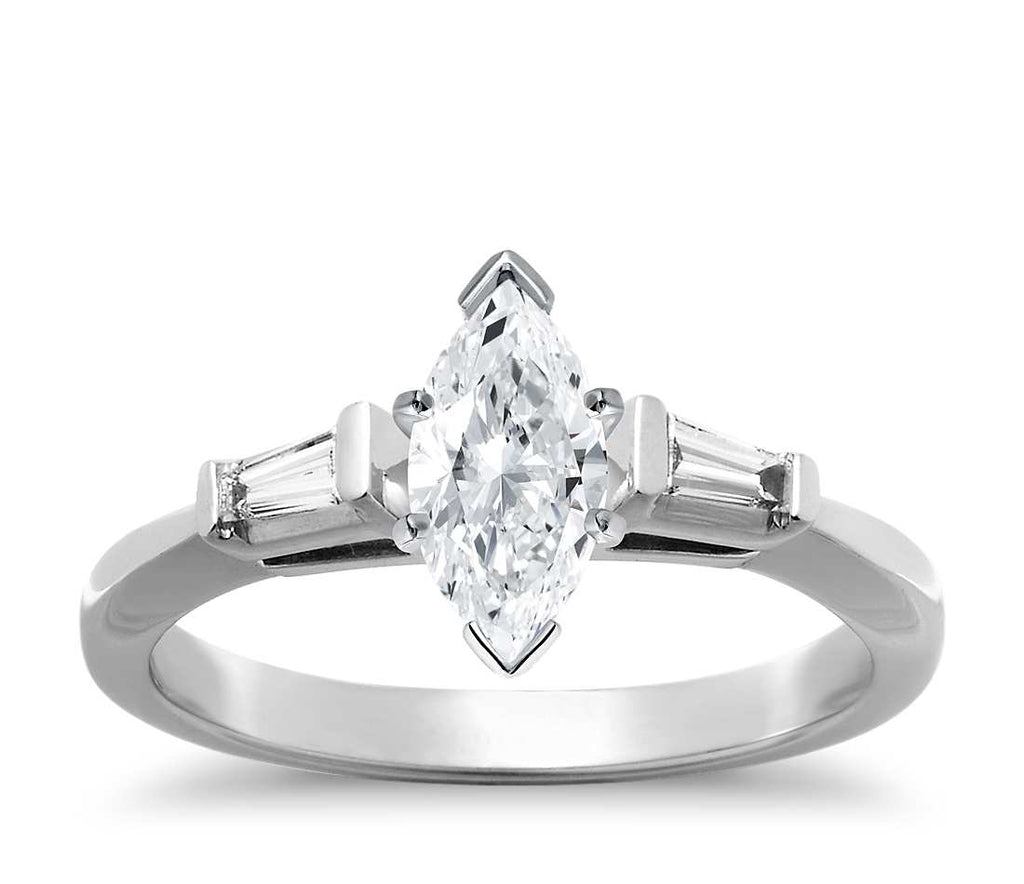 Engagement Ring - Three Stone Marquise Cut