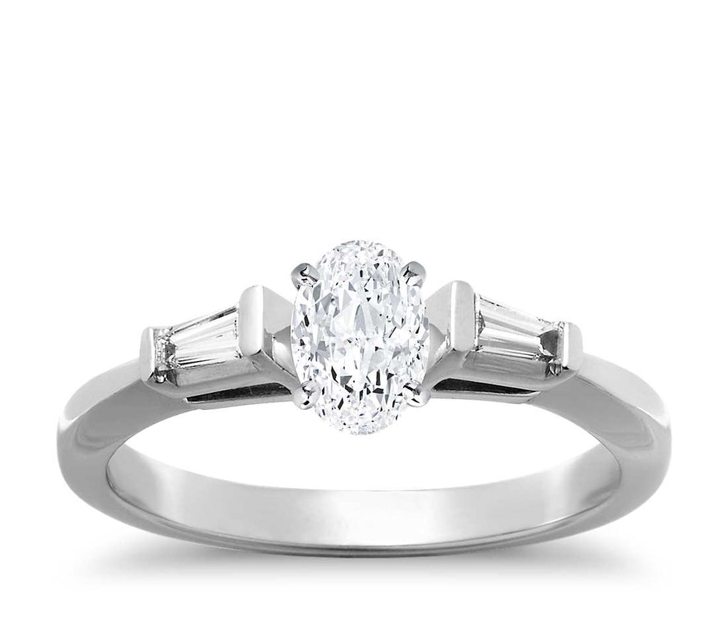 Engagement Ring - Three Stone Oval Cut
