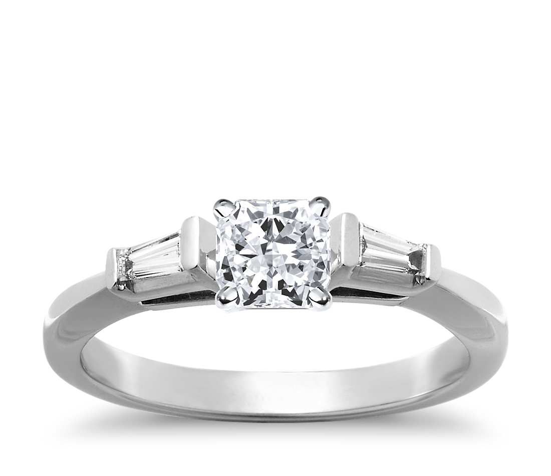 Engagement Ring - Three Stone Radiant Cut