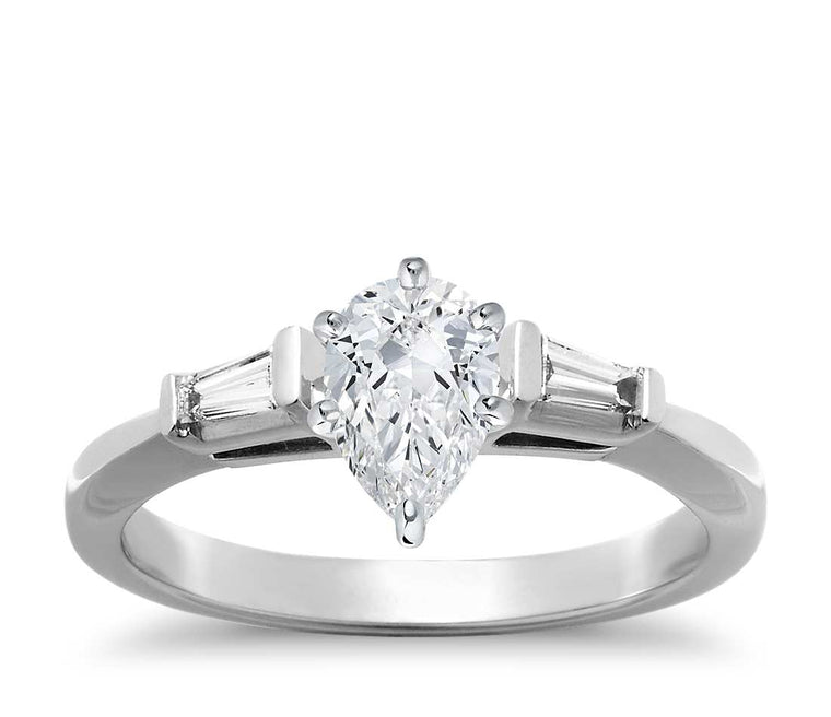 Engagement Ring - Three Stone Pear Cut
