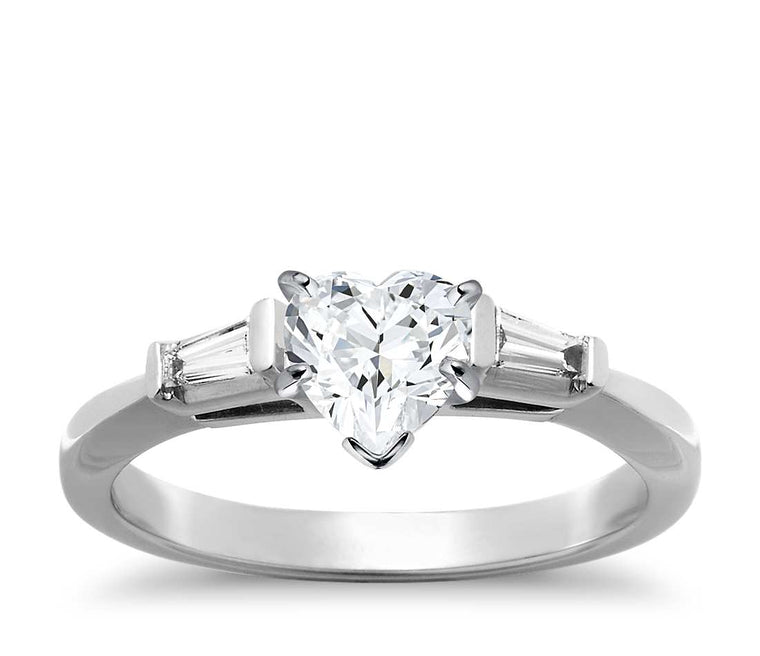 Engagement Ring - Three Stone Heart Cut