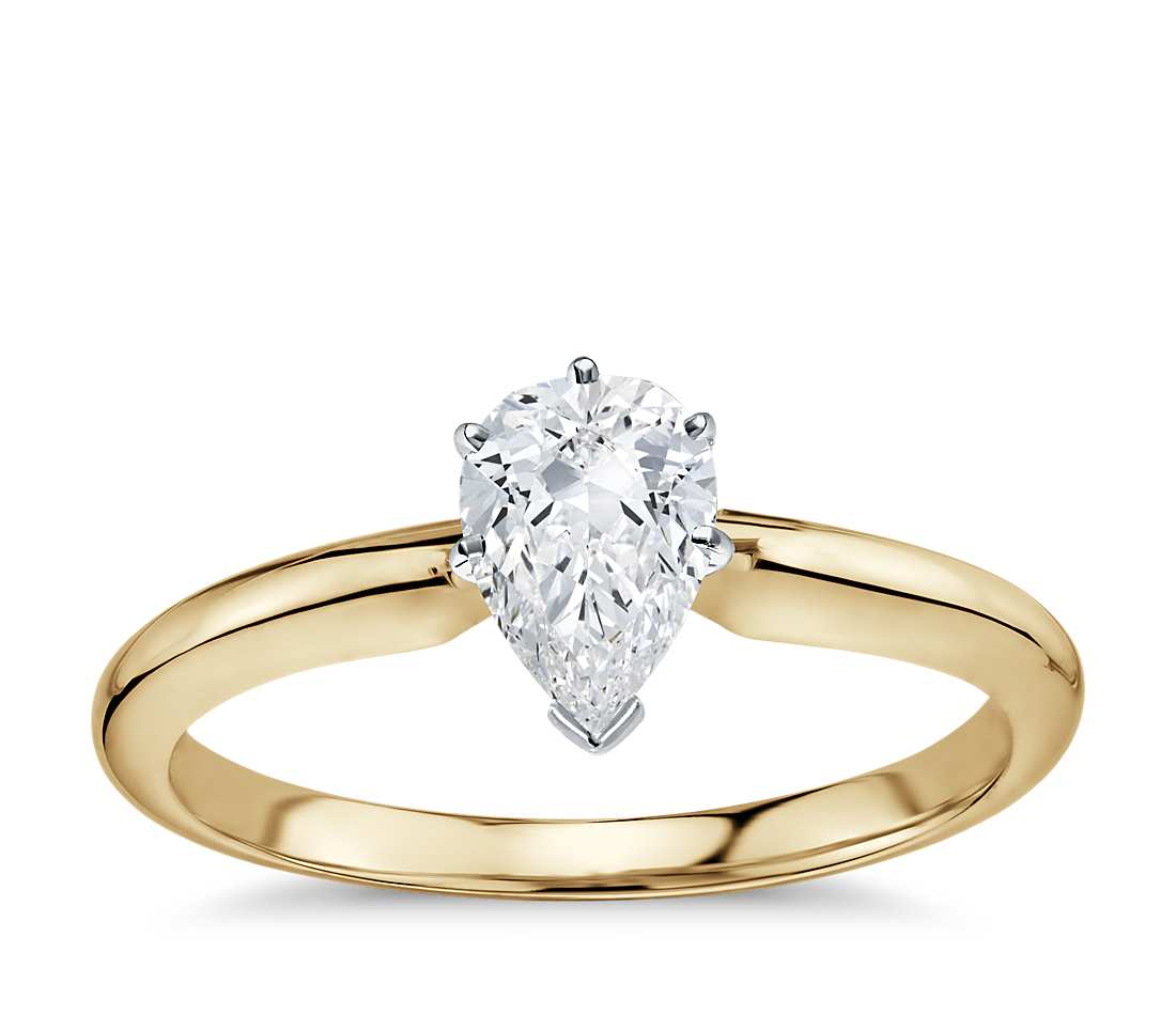 Solitaire Engagement Ring - Classic Six- Prong Marquise (18k Yellow Gold)