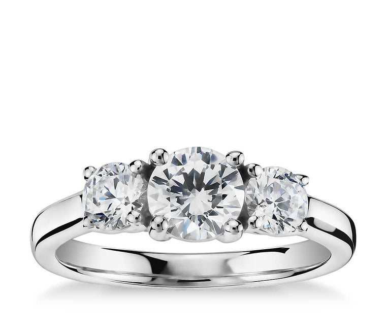 Engagement Ring - Three Stone Classic Round Cut
