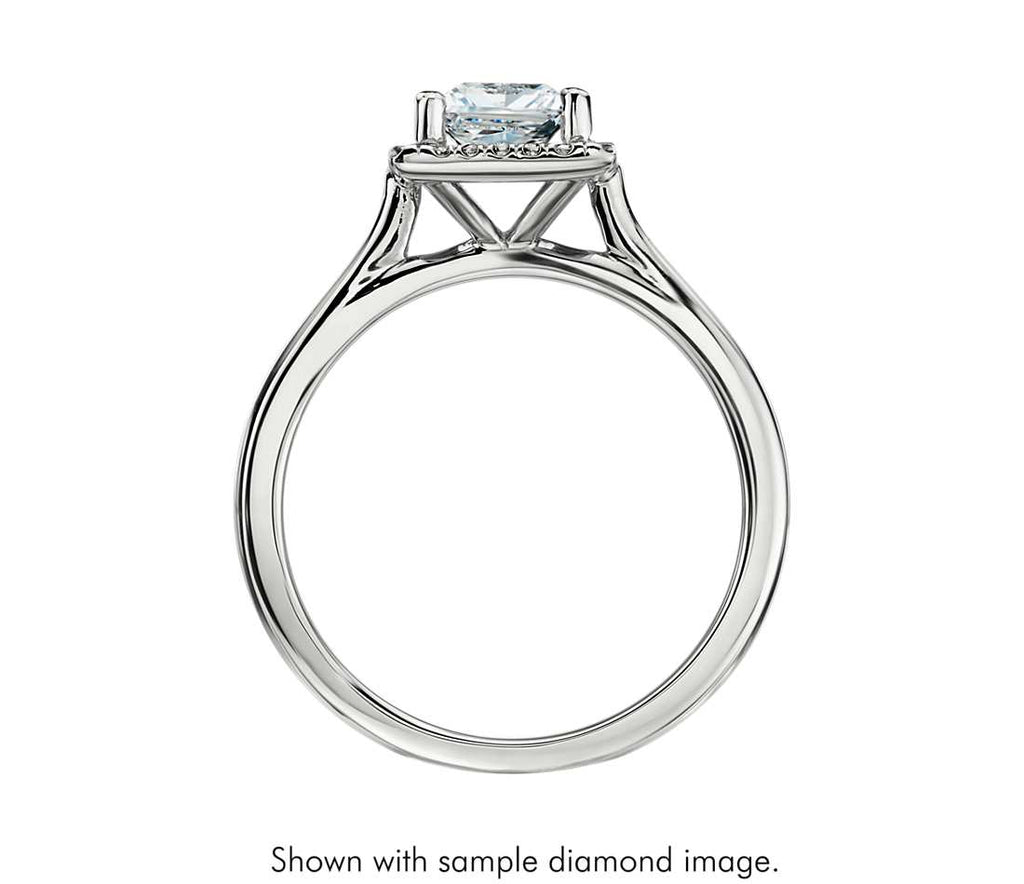 Engagement Ring - Floating Halo Princess Cut