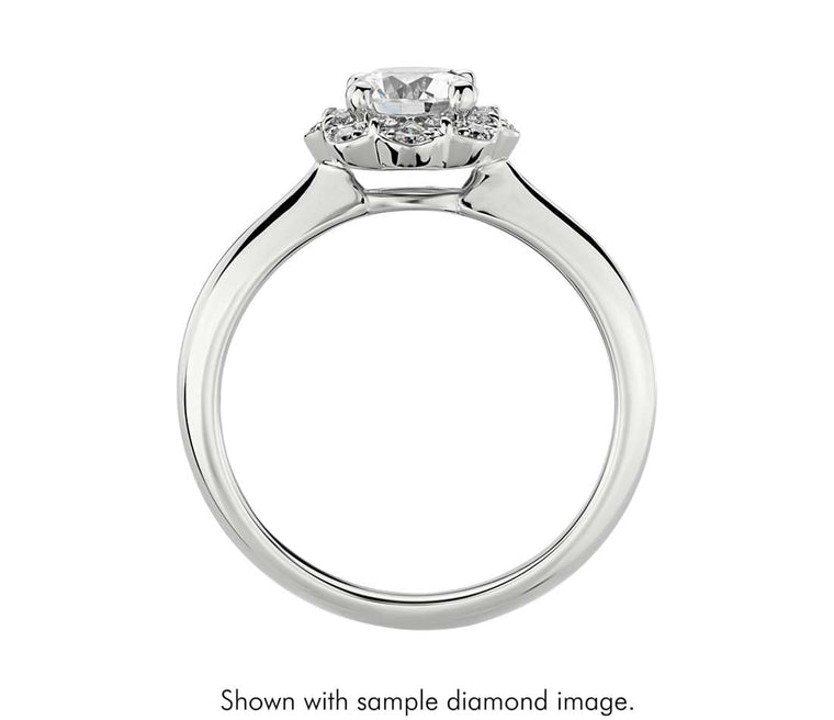 Engagement Ring - Flower Halo Round Cut