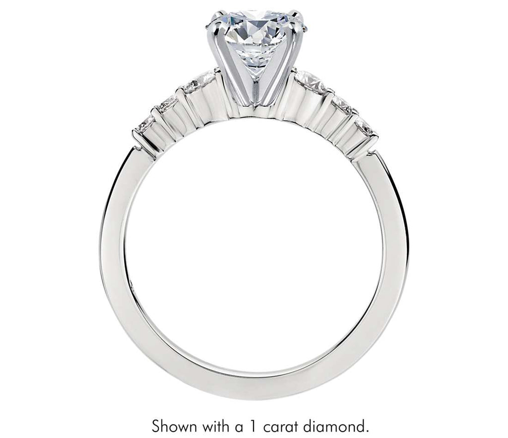 Engagement Ring - Side Stone Round Cut