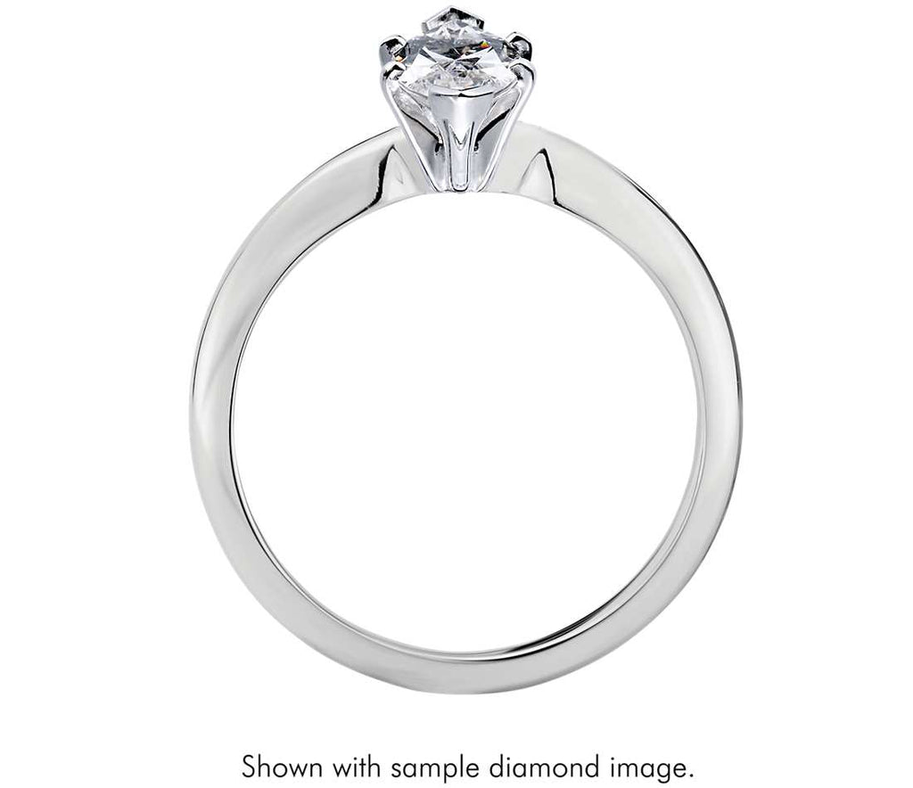 Solitaire Engagement Ring - Classic Six- Prong Marquise