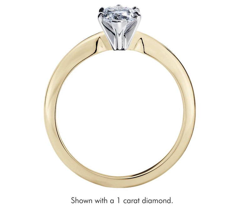 Solitaire Engagement Ring - Classic Six- Prong Pear (18k Yellow Gold)