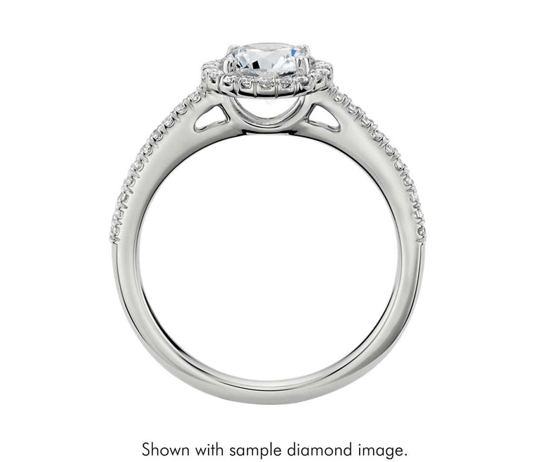 Engagement Ring - Halo Round Cut