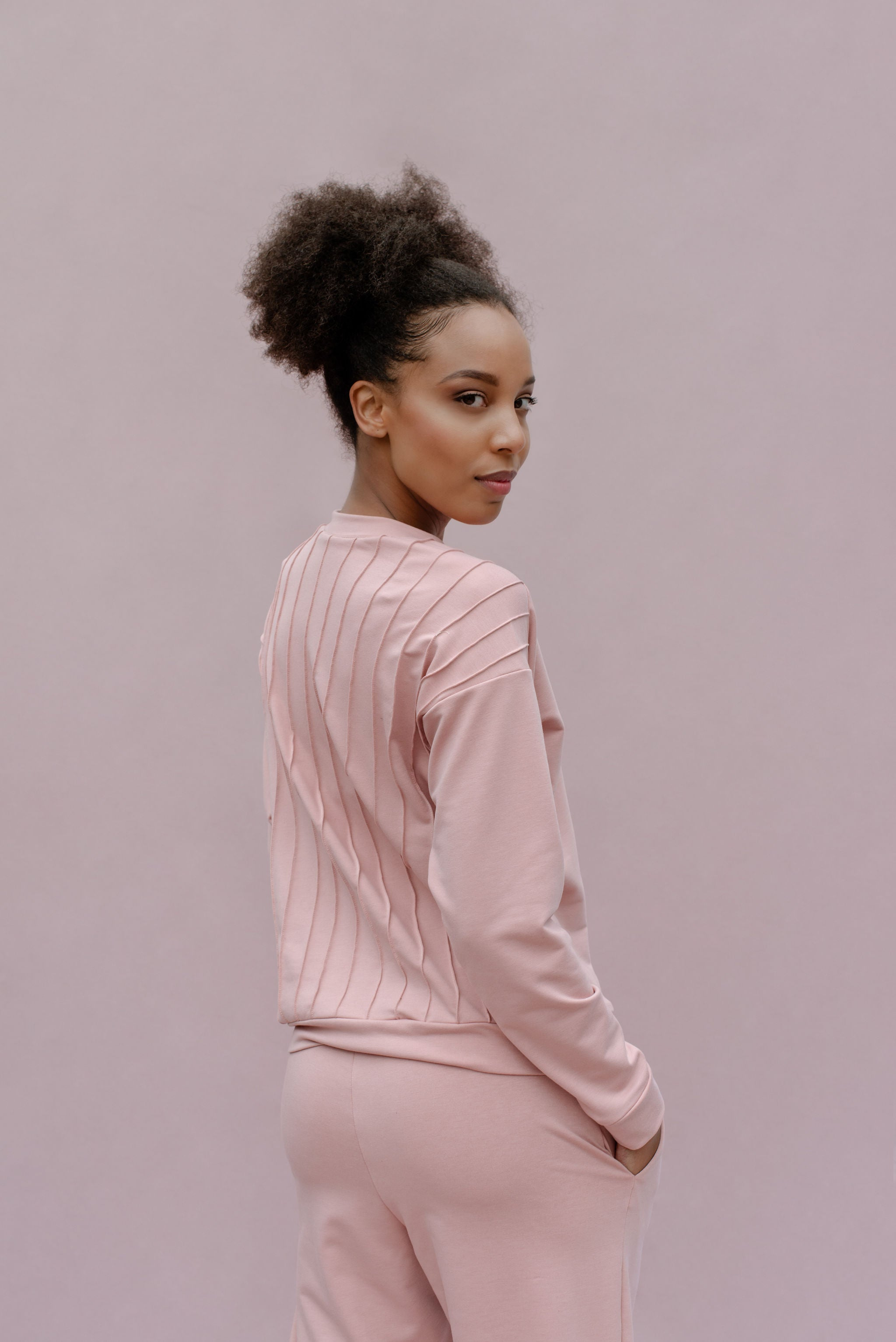 Pink tracksuit sweater