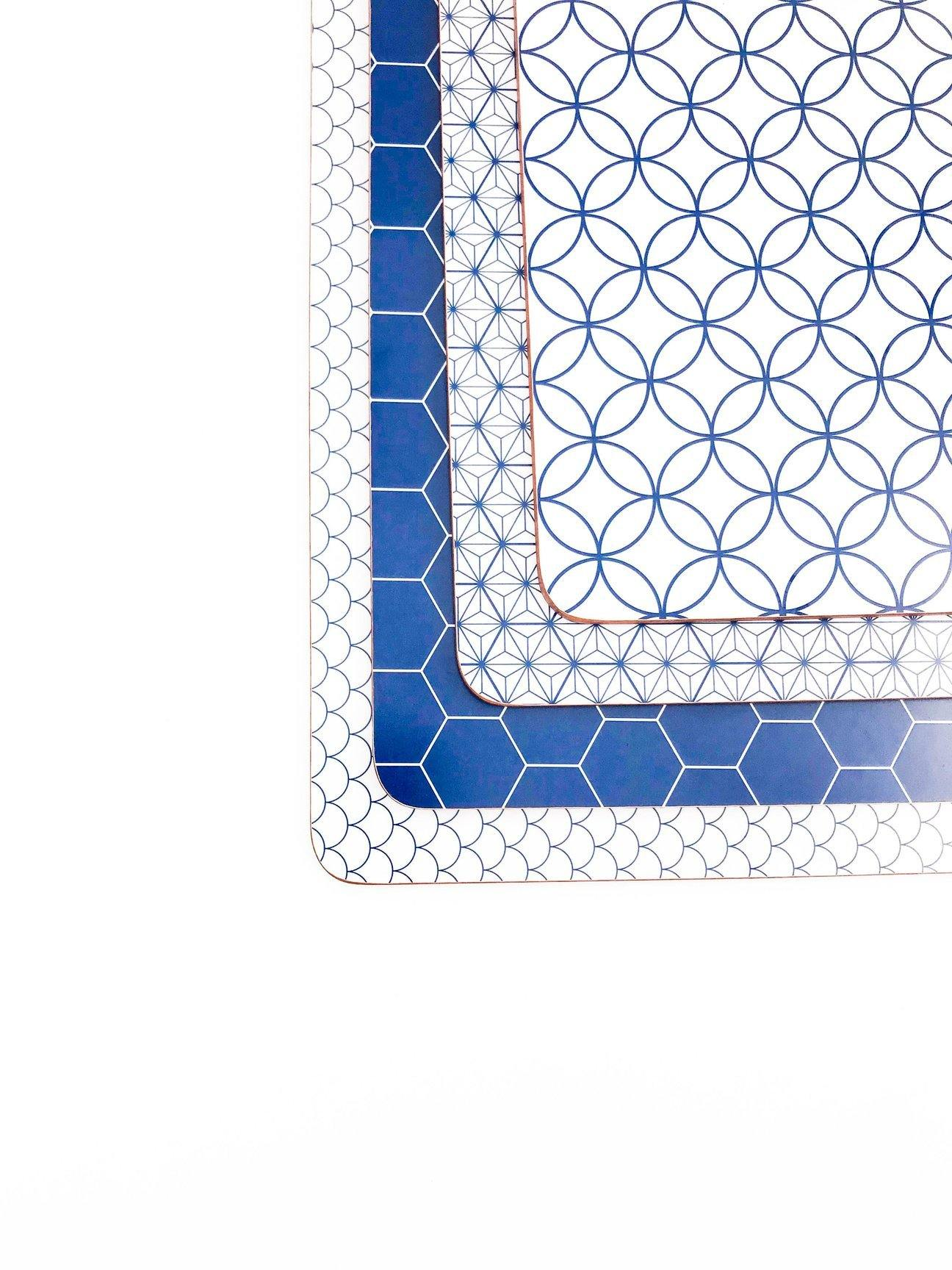 Blue And White Placemat Set