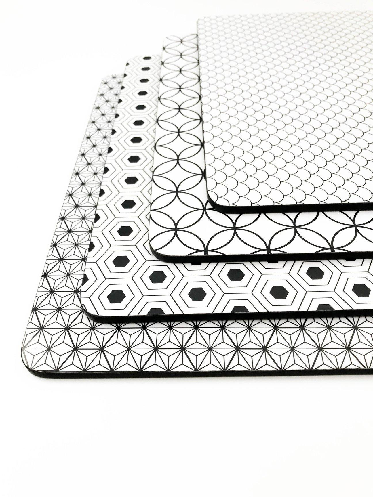 Black And White Placemat Set 2