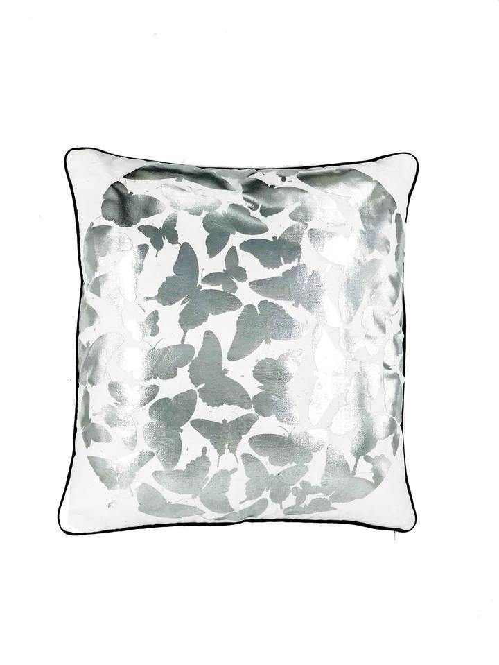Butterfly Silver Scatter Cushion - Danielle Frylinck Design