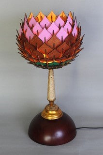 Pink Protea Lamp