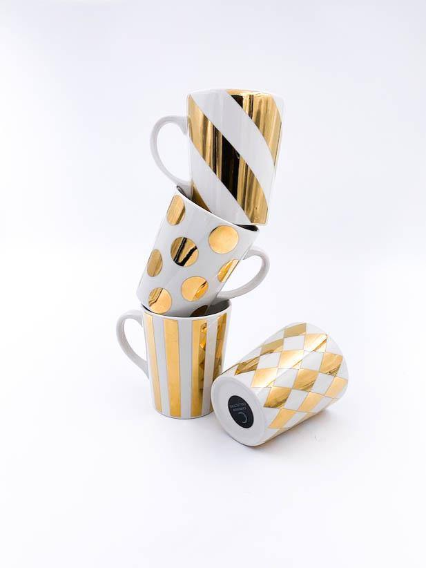 Gold Mug Set Of 4