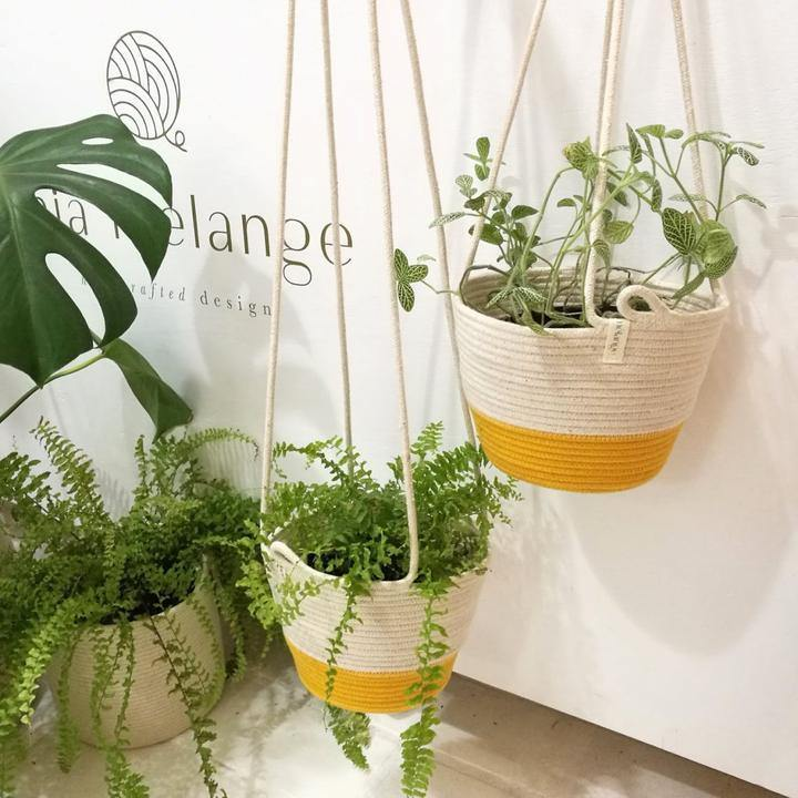Hanging Planter M - Yellow
