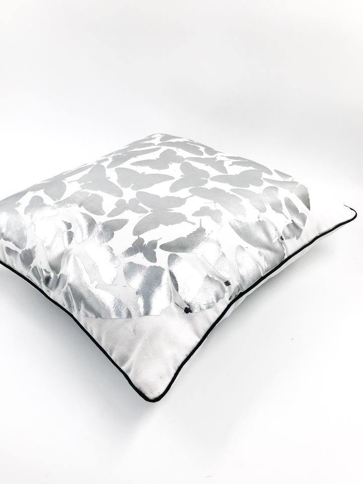 Butterfly Silver Scatter Cushion