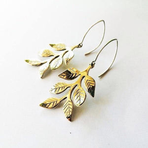 Leafy Dangly Earrings Large