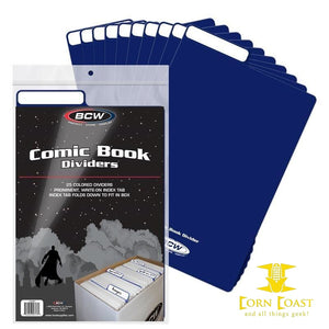BCW Comic Book Dividers - Blue - Corn Coast Comics