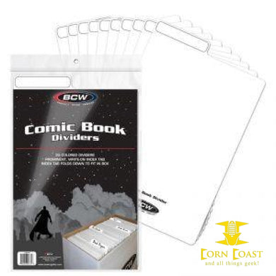 BCW Comic Book Dividers - White - Corn Coast Comics