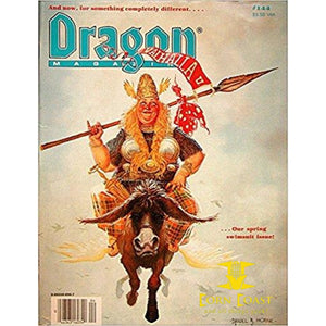 Dragon Magazine, #144 Paperback magazine - Corn Coast Comics