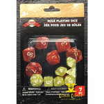 7-ct. Packs of Classic Games Roll Playing Dice-Yellow - Dice