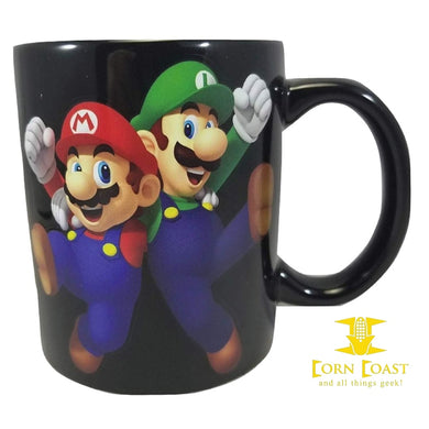 Super Mario Bros, Mario and Luigi ceramic coffee mug