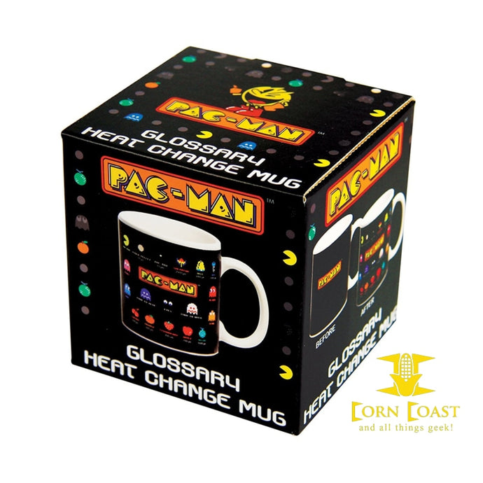 Paladone Pac-Man: Glossary Heat Change Mug - Corn Coast Comics